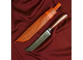 Нож Пчак Шархон - текстолит, ёрма, гарда олово У8 (13 - 14 см) 1