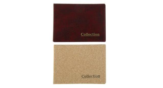 Альбом для монет горизонтальный, на кольцах, Calligrata, 230х170 мм, 10 листов, 240 монет, ячейка 34х39 мм, обложка иску 1