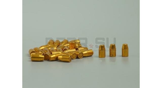Пули 9х19-мм (Люгер, парабеллум) [пул-7] Новые оболоченные омедненные тупоконечные