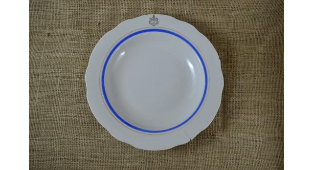 Тарелка для первых блюд ВМФ/Оригинал б/у диаметр 24 см [фр-101]