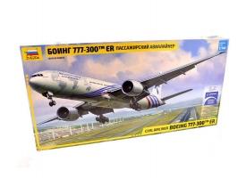 Сборная модель ZVEZDA Пассажирский авиалайнер Боинг 777-300 ER, 1/144