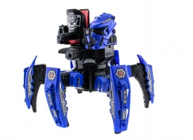 Р/У боевой робот-паук Space Warrior, лазер, диски, синий, Ni-Mh и З/У, 2.4G