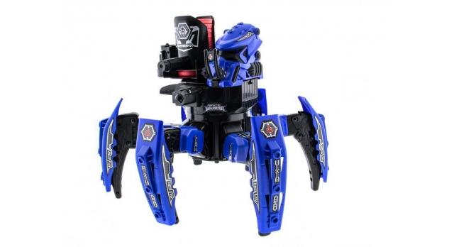 Р/У боевой робот-паук Space Warrior, лазер, диски, синий, Ni-Mh и З/У, 2.4G 1