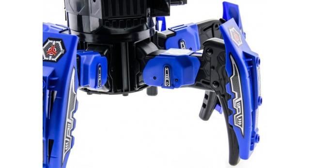 Р/У боевой робот-паук Space Warrior, лазер, диски, синий, Ni-Mh и З/У, 2.4G 4