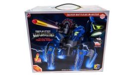 Р/У боевой робот-паук Space Warrior, лазер, диски, синий, Ni-Mh и З/У, 2.4G 10