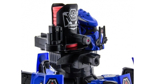 Р/У боевой робот-паук Space Warrior, лазер, диски, синий, Ni-Mh и З/У, 2.4G 12