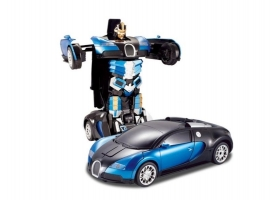 Р/У трансформер MZ Bugatti Veyron 2801P, робот зверь 1/14
