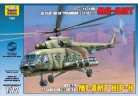 Сборная модель ZVEZDA Российский десантно-штурмовой вертолет Ми-8МТ, 1/72