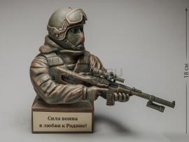 3304 Бюст «Боец спецподразделения с винтовкой ВСС Винторез»