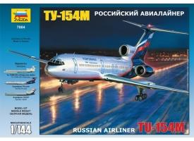 Сборная модель ZVEZDA Российский авиалайнер ТУ-154М, 1/144