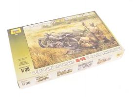 Сборная модель ZVEZDA Советский мотоцикл М-72 с минометом, 1/35