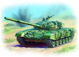 Сборная модель ZVEZDA Российский основной танк с активной броней Т-72Б, 1/35