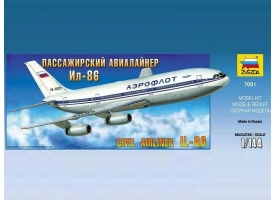 Сборная модель ZVEZDA Пассажирский авиалайнер Ил-86, 1/144