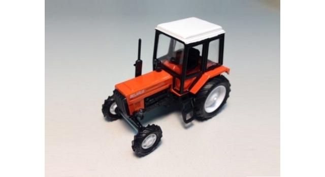 Сувенирная модель трактора МТЗ-82 &quotЛюкс-2&quot металл (оранжевый с бел.кабиной) 1:43 1
