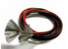Провод AWG 24 (0,205кв.мм) силиконовый, многожильный, черный (1м)