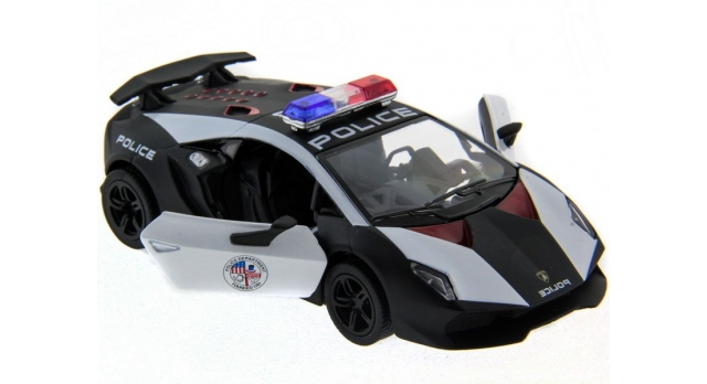 Машина Kinsmart 1:40 Lamborghini Police Sesto Elemento в асс. инерция (1/12шт.) б/к 6
