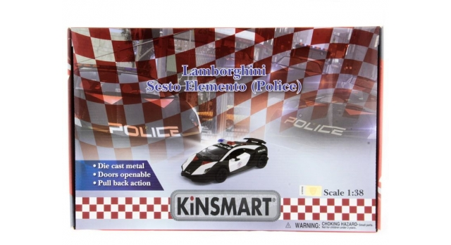Машина Kinsmart 1:40 Lamborghini Police Sesto Elemento в асс. инерция (1/12шт.) б/к 9