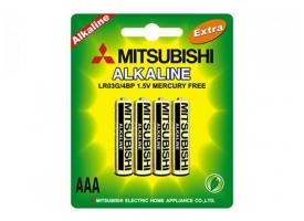Батарейка Mitsubishi AAA LR03G Alkaline (1шт)