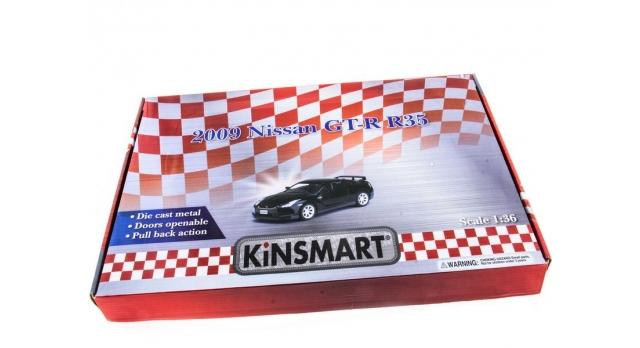 Машина Kinsmart 1:36 Nissan GT-R R35 инерция (1/12шт.) б/к 10