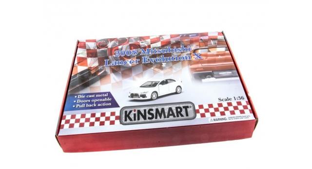 Машина Kinsmart 1:36 Mitsubihi Lancer EV. инерция (1/12шт.) б/к 4