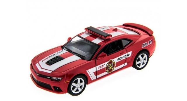 Машина Kinsmart 1:38 Chevrolet Camaro 2014 (Police/Fire) инерция (1/12шт.) б/к 1