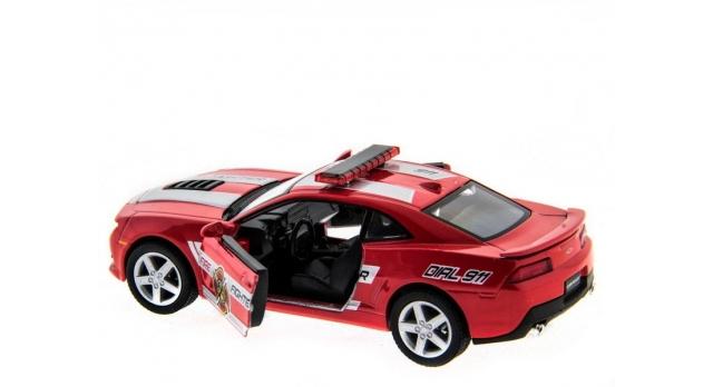 Машина Kinsmart 1:38 Chevrolet Camaro 2014 (Police/Fire) инерция (1/12шт.) б/к 5
