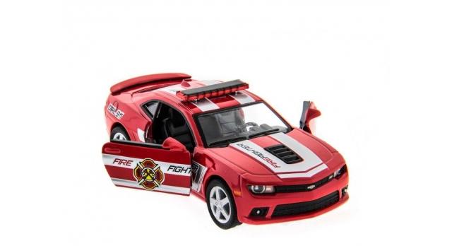 Машина Kinsmart 1:38 Chevrolet Camaro 2014 (Police/Fire) инерция (1/12шт.) б/к 6