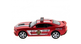 Машина Kinsmart 1:38 Chevrolet Camaro 2014 (Police/Fire) инерция (1/12шт.) б/к 8