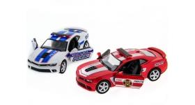 Машина Kinsmart 1:38 Chevrolet Camaro 2014 (Police/Fire) инерция (1/12шт.) б/к 9