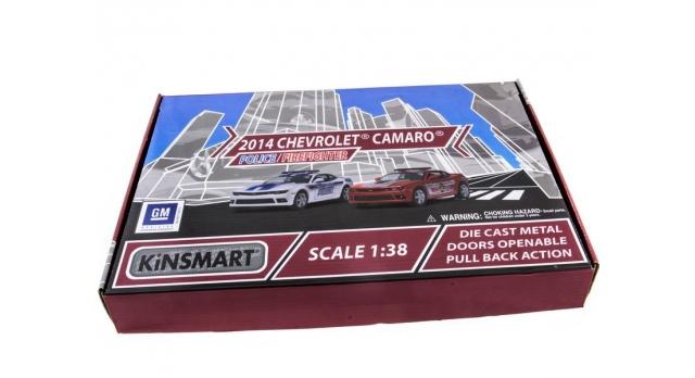 Машина Kinsmart 1:38 Chevrolet Camaro 2014 (Police/Fire) инерция (1/12шт.) б/к 10