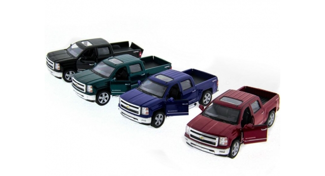 Машина Kinsmart 1:46 Chevrolet Silverado инерция (1/12шт.)  б/к 6