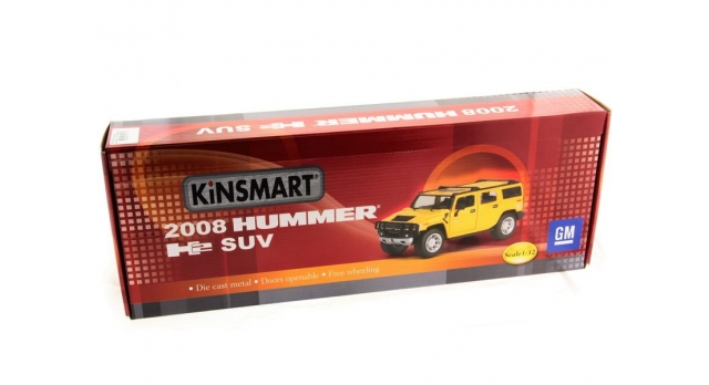 Машина Kinsmart 1:32 2008 Huммer H2 SUV (1/6шт.) б/к 12