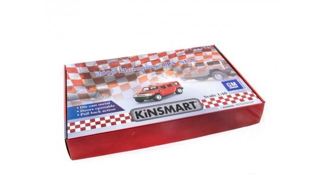 Машина Kinsmart 1:40 Haммer H2 2008 инерция (1/12шт.) б/к 9