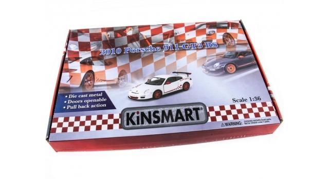 Машина Kinsmart 1:36 Porche 911 GT3 RS 2010 инерция (1/12шт.) б/к 10