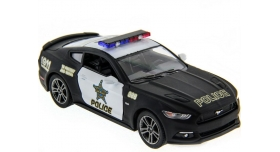 Машина Kinsmart 1:38 Ford Mustang GT 2015 (Police) инерция (1/12шт.) б/к 3