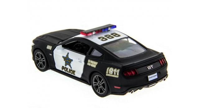 Машина Kinsmart 1:38 Ford Mustang GT 2015 (Police) инерция (1/12шт.) б/к 11