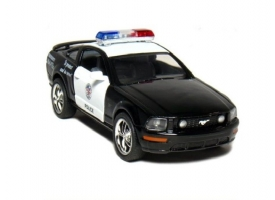 Машина Kinsmart 1:38 FORD Mustang GT Police инерция (1/12шт.) б/к