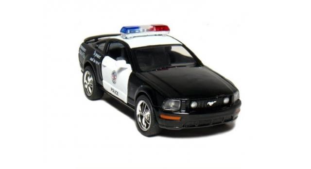 Машина Kinsmart 1:38 FORD Mustang GT Police инерция (1/12шт.) б/к 1