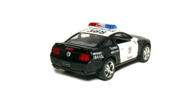 Машина Kinsmart 1:38 FORD Mustang GT Police инерция (1/12шт.) б/к 3