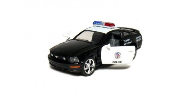 Машина Kinsmart 1:38 FORD Mustang GT Police инерция (1/12шт.) б/к 4