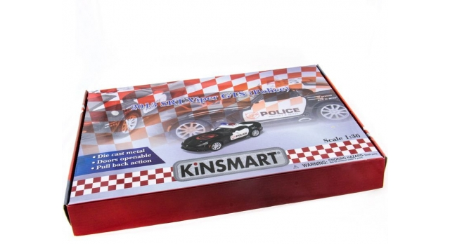 Машина Kinsmart 1:40 SRT Viper Police в асс. инерция (1/12шт.) б/к 9