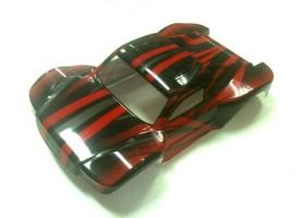 Кузов шорт-корса красного цвета для моделей Himoto E10SC, E10SCL