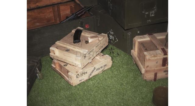 Армейский укупорочный ящик для учебных патронов / Деревянный без перегородок (50х36х15) [ящ-11]