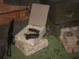 3821 Армейский укупорочный ящик для учебных патронов