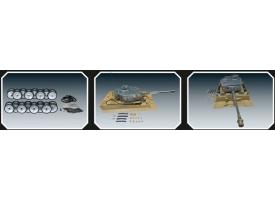 Опорные катки металл. с резиновыми бандажами и оси колёсные для TG Tiger ранняя версия
