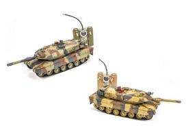Р/У танковый бой Huan Qi Abrams и Abrams 1:24 2.4G (два танка, з/у, акк)
