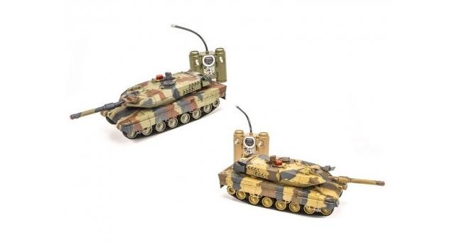 Р/У танковый бой Huan Qi Abrams и Abrams 1:24 2.4G (два танка, з/у, акк) 1