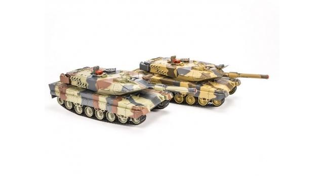 Р/У танковый бой Huan Qi Abrams и Abrams 1:24 2.4G (два танка, з/у, акк) 2