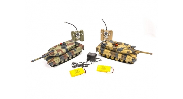 Р/У танковый бой Huan Qi Abrams и Abrams 1:24 2.4G (два танка, з/у, акк) 5