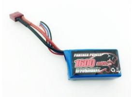 Аккумулятор Li-Po 1600mAh, 7,4V, T-plug для Remo Hobby 1/16 1